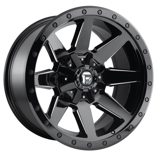 Fuel Milled Gloss Black Wildcat Wheels