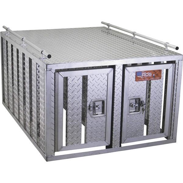 Aluminum Dog Boxes 1 or 2 Compartment Models - No Floor