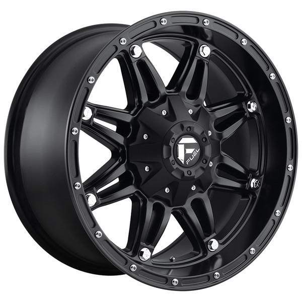 Fuel Matte Black Hostage Wheels