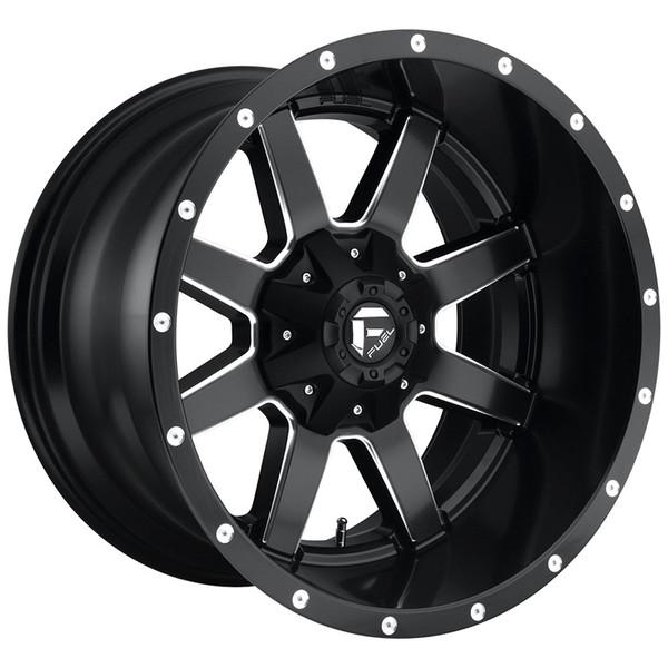 Fuel Milled Matte Black Maverick Wheels