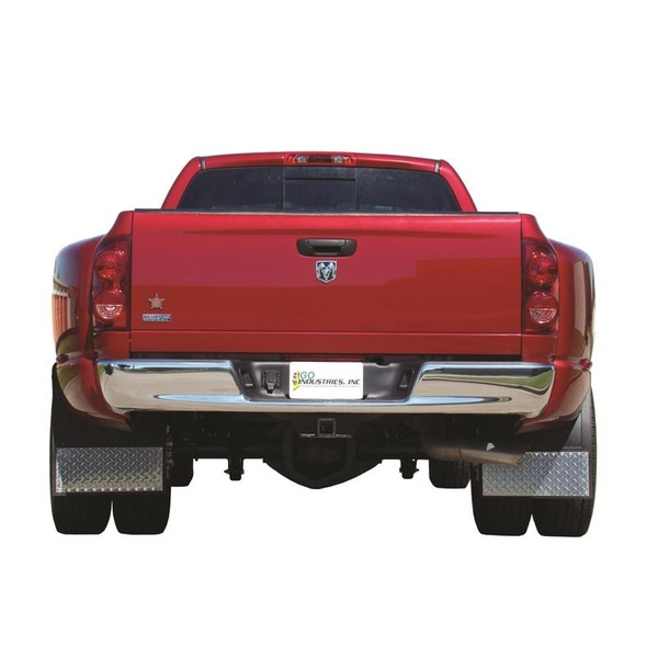 Dual Wheel Mud Flaps Each Pair Includes Brackets and Hardware as Required