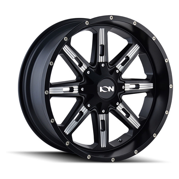Ion Milled Matte Black 184 Wheels