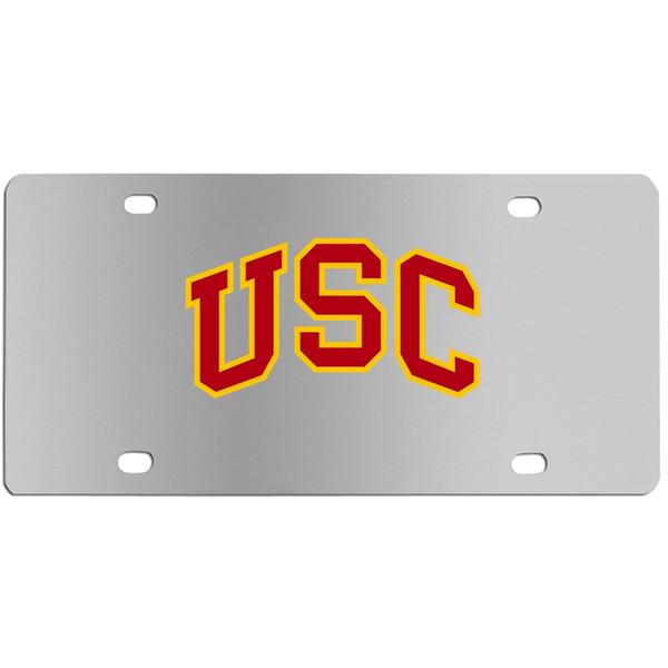 USC Trojans Steel License Plate