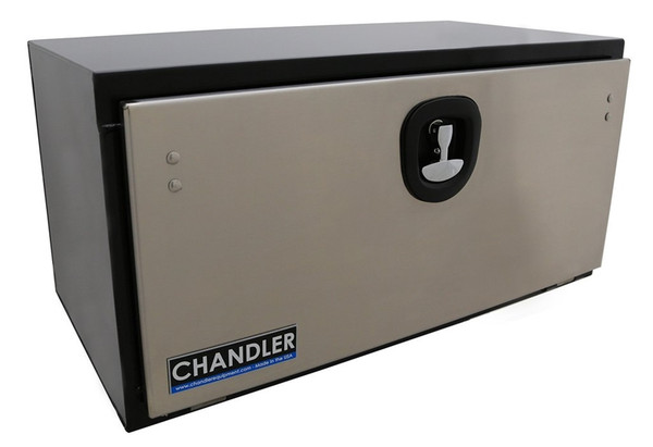 Underbody Truck Toolbox Steel With Polished Stainless Steel Door