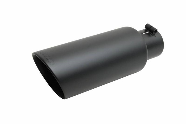 Exhaust Tip Black Ceramic Double Wall Angle Cut