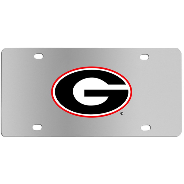 Georgia Bulldogs Steel License Plate