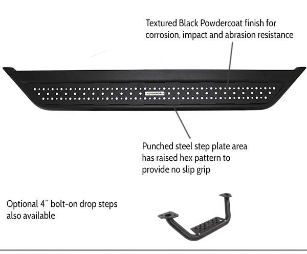 DOMINATOR D6 Black Steel Side Step