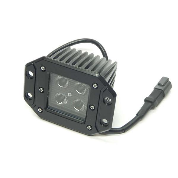 LED Light 3x3 16w Square Black Out