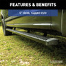 Luverne Slimgrip 5 Inch Textured Black Running Boards  Sleek Style