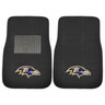Baltimore Ravens NFL 2pc Embroidered Car Mat Set