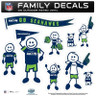 Seattle Seahawks Family Decal Set