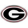 Georgia Bulldogs NCAA Hitch Cover Class II and Class III Metal Plugs
