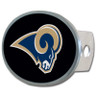 St. Louis Rams Oval Metal Hitch Cover Class II and III