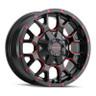 Mayhem Gloss Black and Red Warrior Wheels 01