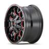 Mayhem Gloss Black and Red Warrior Wheels 03