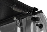 Easy-to-use slam latches are mounted on both sides of the cover