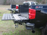 White and Black Tailgate Extender