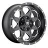 Fuel Off-Road Boost Milled Matte Black Wheels