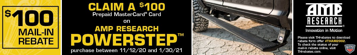 AMP Research PowerStep Rebate Promotion