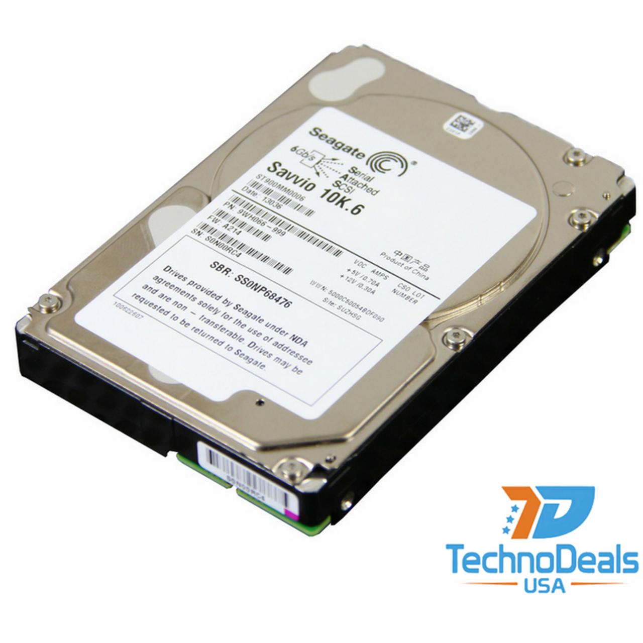 """Dell ST600MM0006 600GB 10k RPM 2.5/"""" 64MB SAS-6GB//s HDD"""