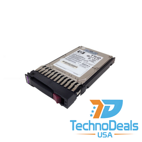 "HP 146GB 10K SAS Dual-Port Hard Drive with Tray 2.5""  -  418367-B21"