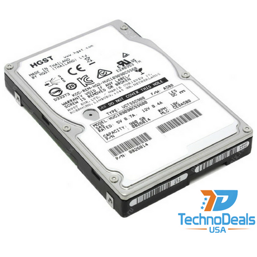 "Hitachi 900GB 10K SAS 2.5"" 6G HARD DRIVE HUC109090CSS600"