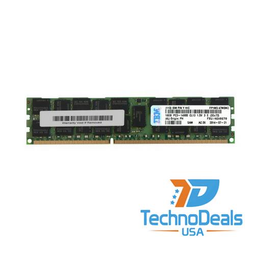 IBM 16GB (1X16GB) 2RX4 PC3-14900R MEMORY  46W0670