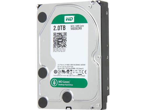 """Western Digital WD Green WD20EZRX 2TB IntelliPower 64MB Cache SATA 6.0Gb/s 3.5"""" Internal Hard Drive Bare Drive"""