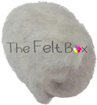 needle felting wool in hint of grey shade  by the felt box