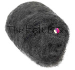 needle felting wool in dark grey shade  by the felt box