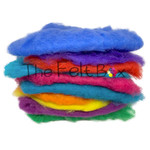Felting wool in bright shades