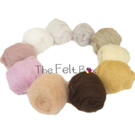 Needle felting wool skin