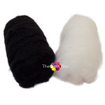 Needle felting wool black white