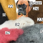 Needle felting wool in boxer shades