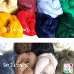 Viscose Fibre, MATT Roving, for Felting Spinning. Shade Pack, 100g| 3.5 Oz