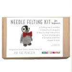 Needle felting kit Pip the Penguin designed by Sarah Brown of The Original Needle Felting UK.