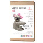 Koala needle felting kit. Designed by Sarah Brown of The Original Needle Felting UK.