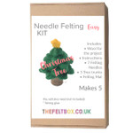 Needle Felting Kit- Christmas Tree. Makes five. Level -Easy
