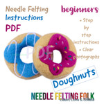 Delicious Doughnuts PDF Needle Felting Instructions. Designed by Sarah Brown of The Original Needle Felting UK.