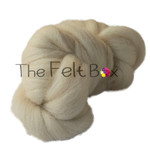 Wool Top  Eider, Felting and Spinning Fibre, Cream