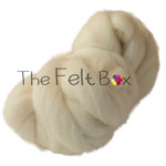 Wool Top Southdown, Felting and Spinning Fibre, Cream