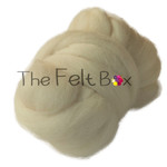 Wool Top Cheviot, Felting and Spinning Fibre, Cream