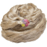 Silk Tasar, golden silk fibre, 100g