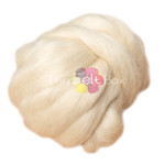 Wool Top, Wensleydale Wool Top, Felting and Spinning Fibre, Cream