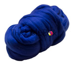 Wool Top, Merino Roving Top 21 mic, Felting and Spinning Fibre, Blue