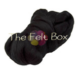Wool Top, Merino Roving Top 21 mic, Felting and Spinning Fibre, Black