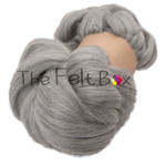 Wool Top, Corriedale Roving, Felting and Spinning Fibre, Grey