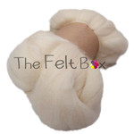 Wool Top, Bluefaced Leicester Wool Top, Felting and Spinning Fibre, Cream