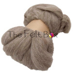 Wool Top, Bluefaced Leicester Wool Top, Felting and Spinning Fibre, Oatmeal