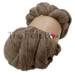 Wool Top, Bluefaced Leicester Wool Top, Felting and Spinning Fibre, Brown